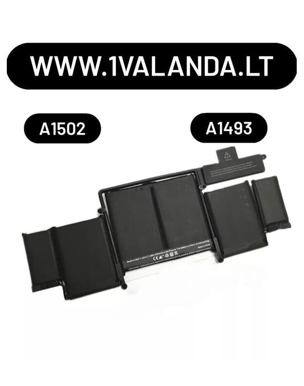 TPC baterija APPLE MacBook Pro A1582 A1502  kompiuteriui