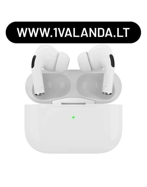 Belaidės TWS  Airpods Pro stiliaus ausinės silver kokybės