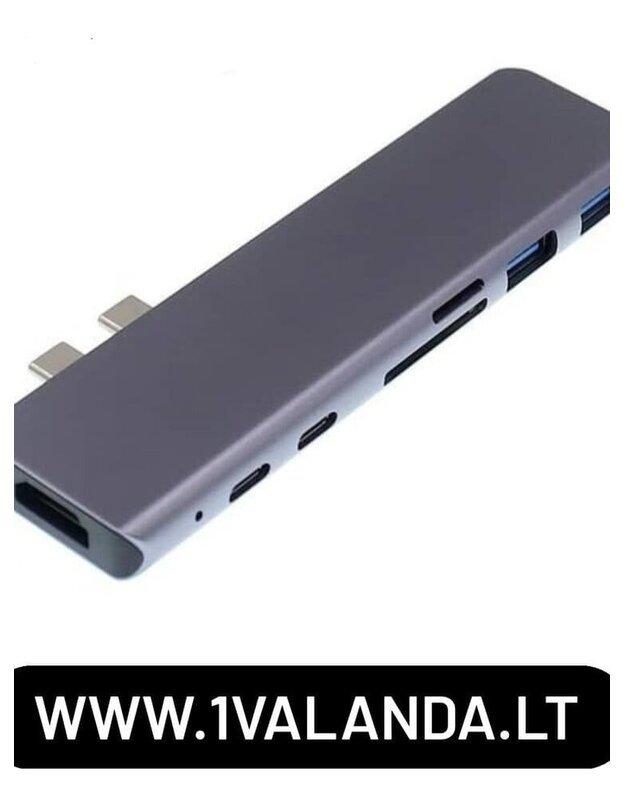 MacBook Pro/air Type C adapteris hub 7in1